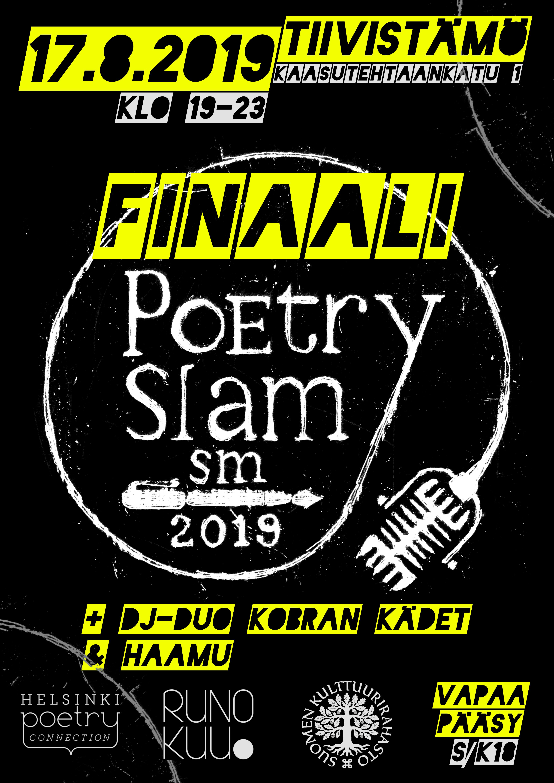 Poetry slamin SM-finaalin juliste