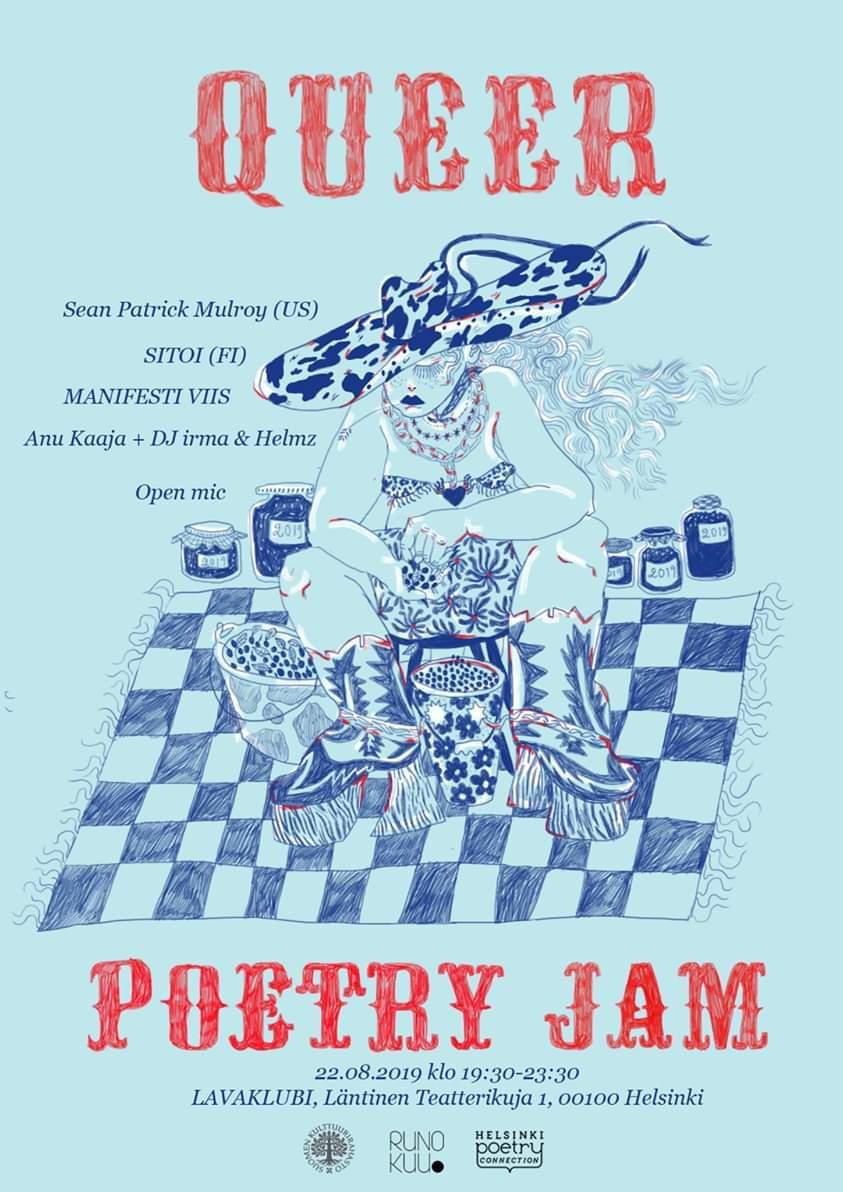 Queer Poetry Jam -juliste